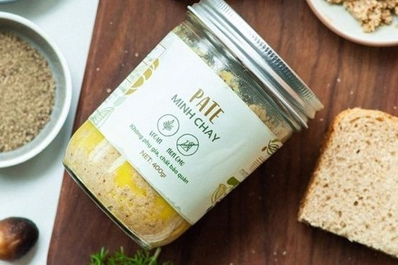 The locally-made vegetarian pâté Minh Chay produced by Loi Song Moi Company(Photo: the Food Administration of Vietnam)