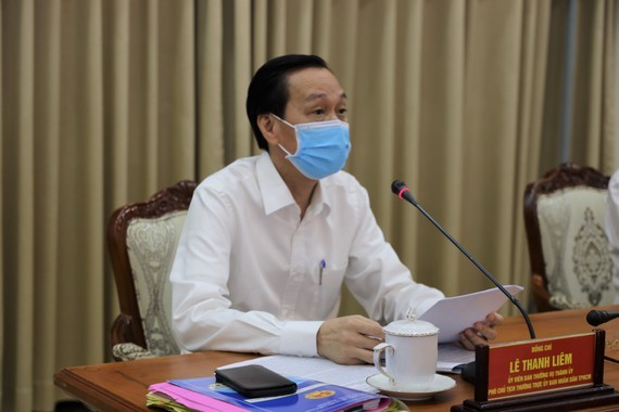 Standing Deputy Chairman Le Thanh Liem presides the meeting (Photo: SGGP)