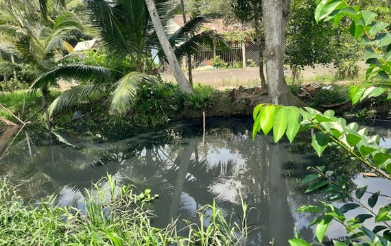 Wastewater from the industrial park has polluted canals around the industrial parks. (Photo: SGGP)