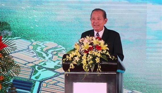 Deputy Prime Minister Truong Hoa Binh addresses the ceremony (Photo: VNA)