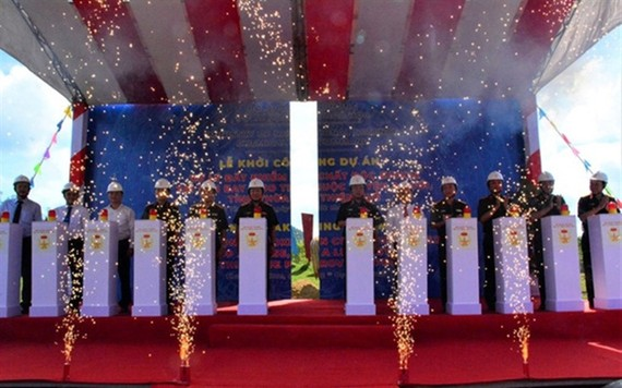 The dioxin-remediation project at A So Airbase was launched on Friday in Thua Thien – Hue Province. — Photo qdnd.vn