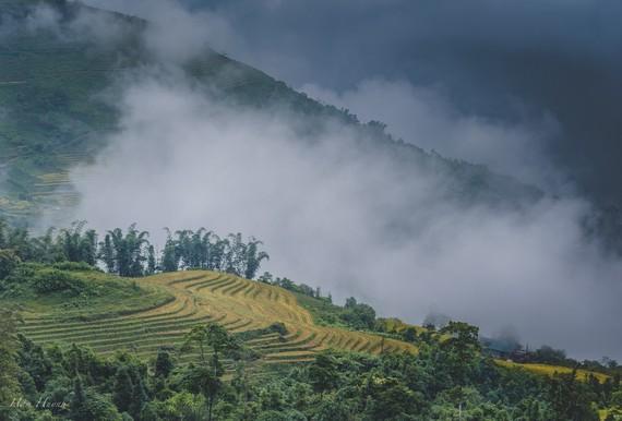 Mu Cang Chai terrace fields in the northern mountainous province of Yen Bai (Photo: Han Huynh)