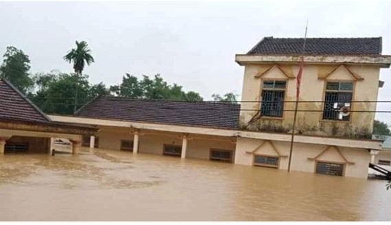 Floodwater has inundated many parts of Central Vietnam since October (Photo: SGGP)