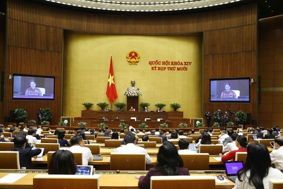 Legislators are gathering in Hanoi for in-person meetings as part of the National Assembly's ongoing 14th session (Photo: VNA)