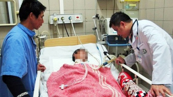 One of poisoned victim (Photo: SGGP)