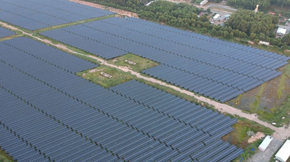 A solar energy system in Duc Hoa District of Long An Province. (Photo: SGGP)