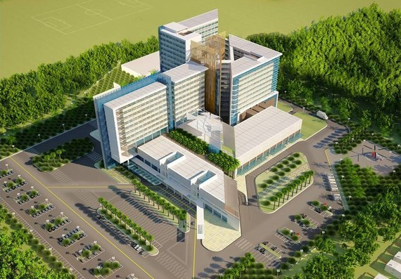 An artist's impression of Cu Chi Hospital (Photo: SGGP)