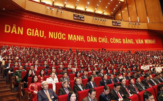 Delegates at the opening of the 13th National Party Congress (Photo: SGGP)