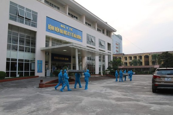 One of the field hospitals in Hai Duong (Photo: SGGP)
