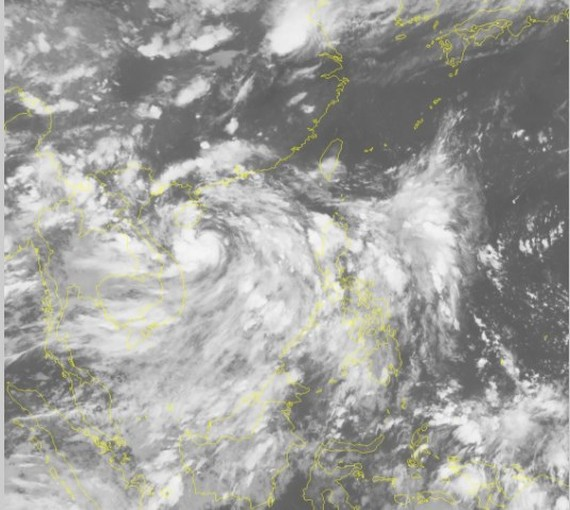 Storm 'Talas'enters the East Sea.