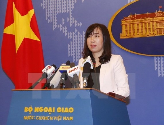 Ministry of Foreign Affairs' spokesperson Le Thi Thu Hang. — VNA/VNS Photo