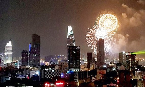 Fireworks will light up the sky of Ho Chi Minh City (photo:Khac Van)
