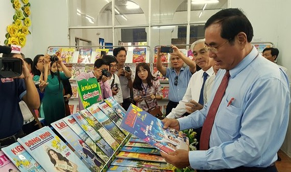 Spring publications of Saigon Giai Phong Newspaper is showcased at the Spring Press Festival 2019