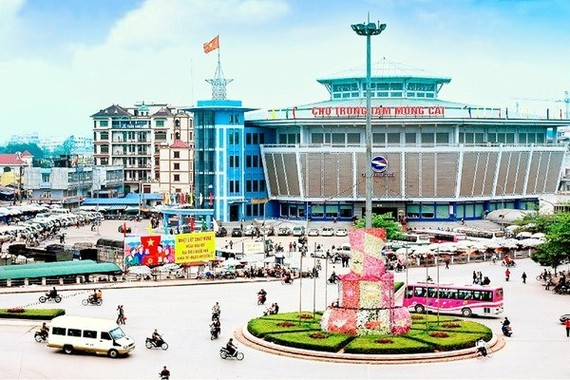 An area in downtown Mong Cai city of Quang Ninh province (Photo: baoquangninh.com.vn)
