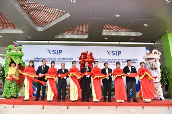 The ground opening ceremony of VSIP Bac Ninh office building. (Photo: courtesy of VSIP Bac Ninh)