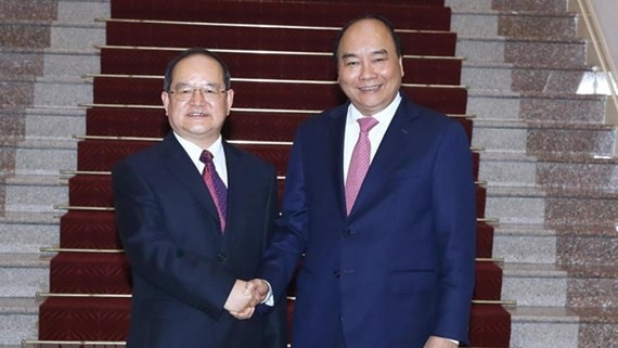 Vietnamese Prime Minister Nguyen Xuan Phuc and Lu Xinshe, Communist Party Secretary of Guangxi Zhuang Autonomous Region of China (Photo: VNA)