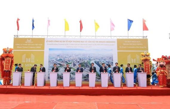 At the groundbreaking ceremony (Photo: VNA)