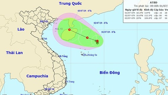 Low pressure zone is anticipated to develop into tropical depression on July 2.