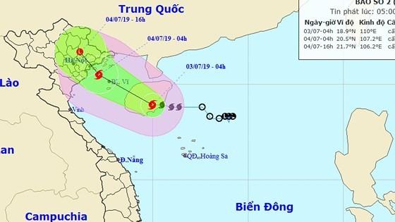 "Typhoon ""MUN"" approaches mainland from Quang Ninh to Hai Phong"