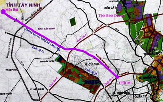 Construction project of Ho Chi Minh City- Moc Bai Expressway