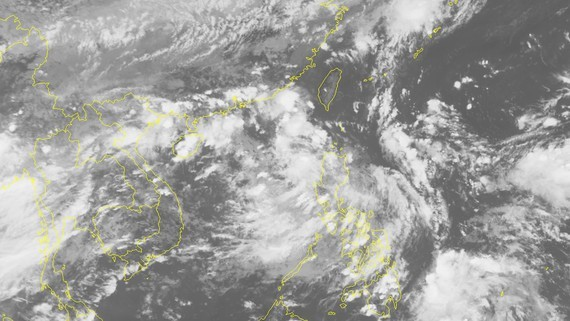 The National Hydrology Meteorology Forecast Center provided visible images of the newly-formed tropical depression (Photo: NHMF)