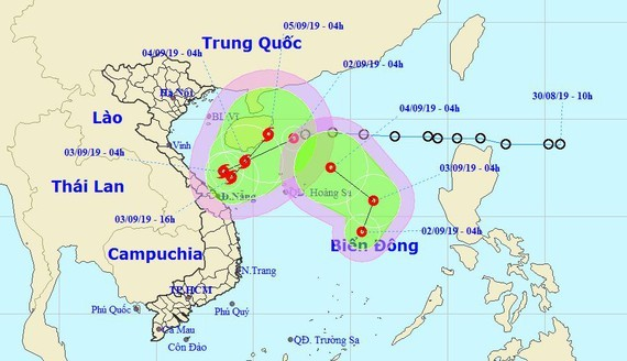 The National Hydrology Meteorology Forecast Center provides visible images of the tropical depressions in the East Sea