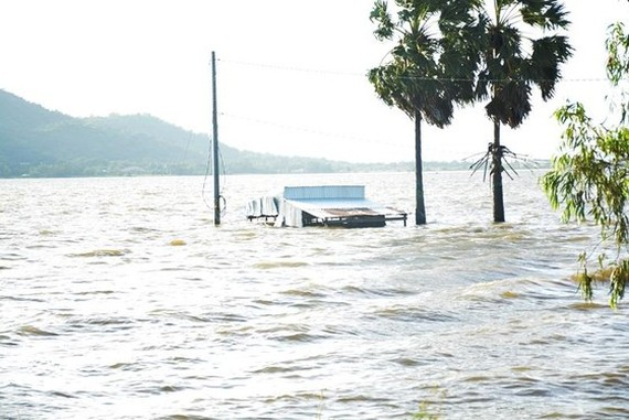 Currently, the upstream flood water level on the Mekong River is rising rapidly over alarm level 1.