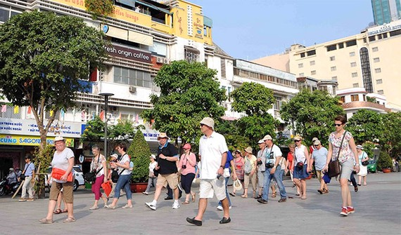 Foreign visitors in Ho Chi Minh City