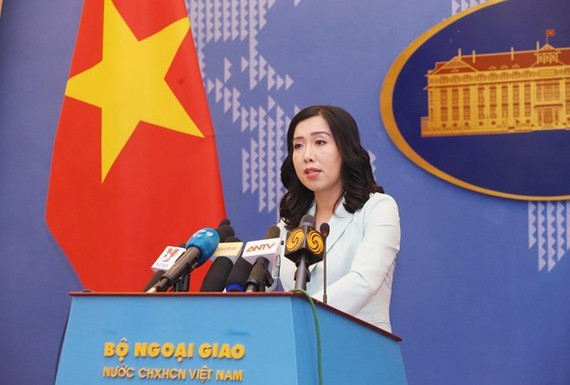 The Vietnamese Foreign Ministry's spokeswoman Le Thi Thu Hang