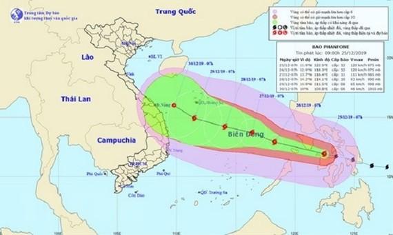 Tropical storm Phanfone enters East Sea