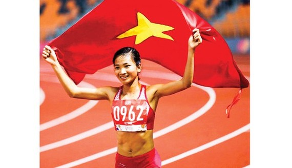 Track and field athlete Nguyen Thi Oanh ranks first outstanding athletes 2019