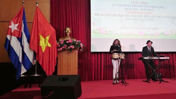Celebration of 61 years of Cuba's National Day at ai Gon Giai Phong Newspaper Building
