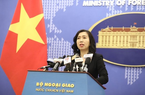 Spokeswoman of the Ministry of Foreign Affairs Le Thi Thu Hang (Photo: VNA)