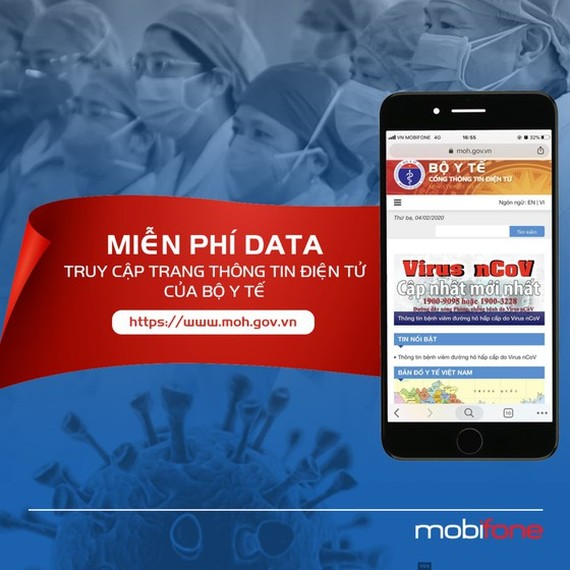 MobiFone provides free data charge for subscribers to Ministry of Health'sPortal