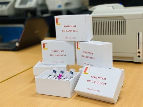 The quick test kit shortens the testing time to 70 minutes instead of four hours. (Photo courtesy of Hanoi University of Science and Technology)