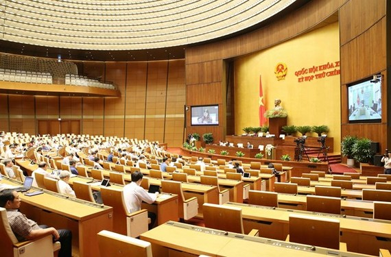 A sitting of the 14th National Assembly's ninth session (Photo: VNA)