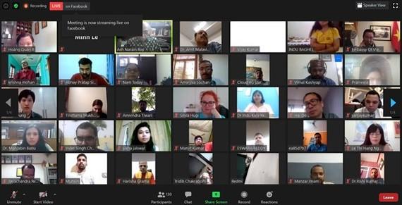 Participants at the online seminar (Photo: VNA)