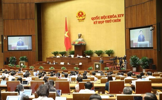 At a working session of the National Assembly (Photo: VNA)