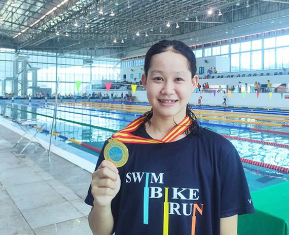 The 14-year old swimmer Vo Thi My Tien
