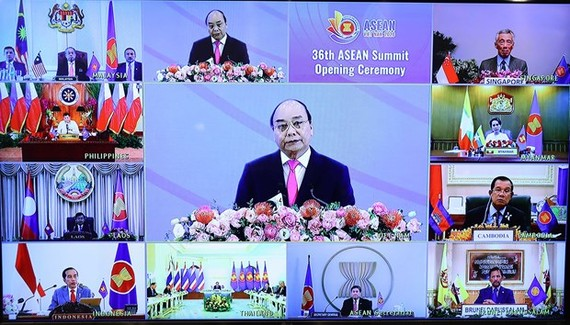 """The 36th ASEAN Summit themed """"Cohesive and Responsive ASEAN"""" took place in Hanoi on June 26 under the chair by Prime Minister Nguyen Xuan Phuc. (Photo: VNA)"""