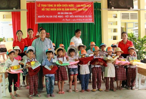 Many gifts are sent to the poor pupils