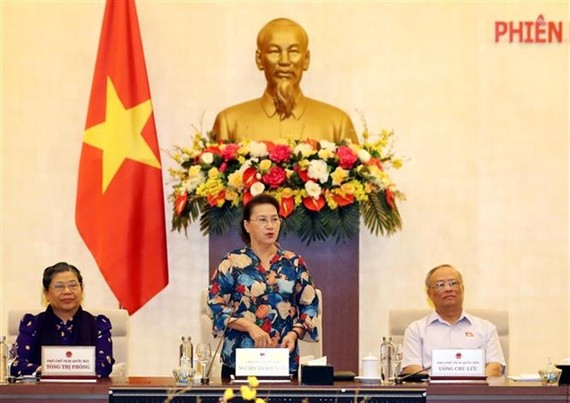 NA Chairwoman Nguyen Thi Kim Ngan at the closing session of the NA Standing Committee in Hà Nội on Tuesday. (Photo:VNA)