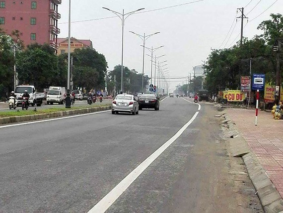 A section of National Highway No.1 running through Ha Tinh Province is upgraded