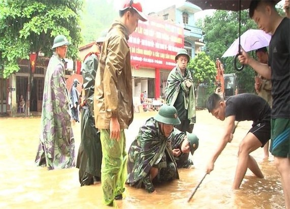 Non-stop rain and flash flood have been sweeping through the Northern mountainous province of Ha Giang. (Photo:  Steering Committee for Flood and Storm Prevention and Control, Search and Rescue of Ha Giang Province)