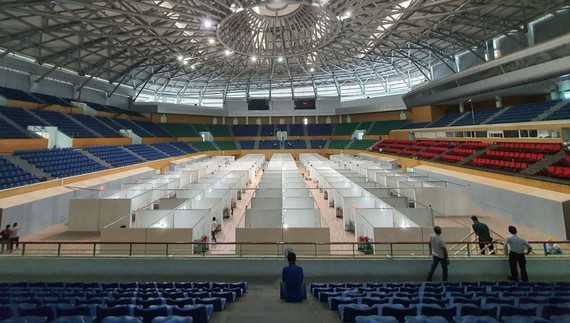 Covid-19 field hospital is located at Tien Son Sport Palace in Da Nang