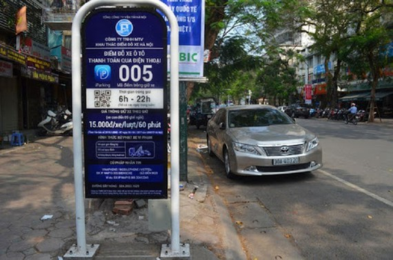 Hanoi suspends trial operation of iParking apps from September 1