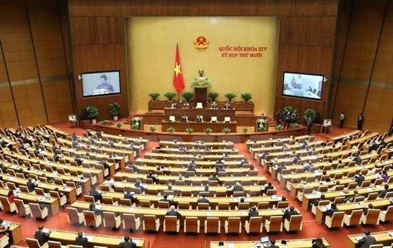 The 14th-tenure National Assembly (NA) starts its 10th sitting at 9:00am on October 20. (Photo: VNA)