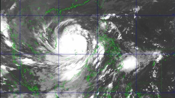 Satellite image shows storm Molave