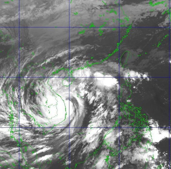 Satellite image shows storm Molave at 8AM today