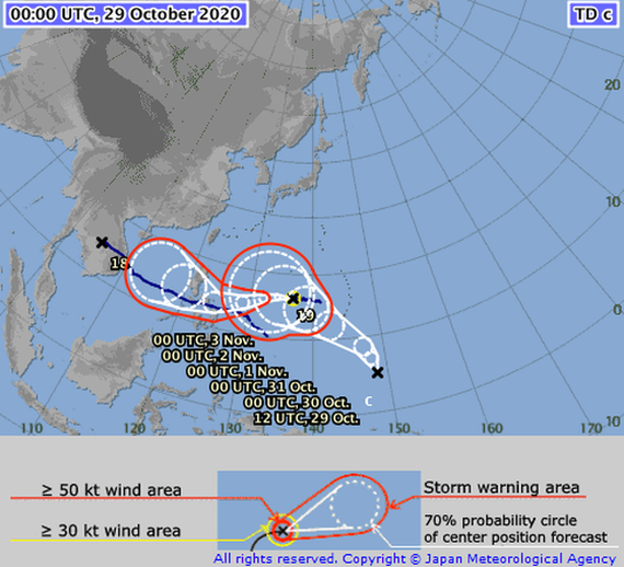 New storm Goni fizzles in offshore Philippines